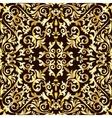 Golden baroque pattern vector