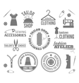 Sewing equipment labels vector