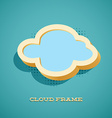 Retro card with cloud sign vector