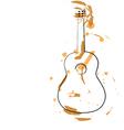 Abstract guitar vector