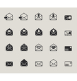 Mail envelope web icons set vector
