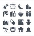 Icons deep sleep vector