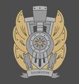 Locomotive emblem darkvs vector