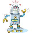 Cartoon thinking robot vector