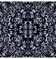 Silver baroque pattern vector