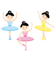 A girl dancing ballet vector