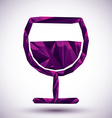 Violet peace geometric icon made in 3d modern vector