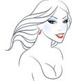 Women beauty face vector
