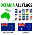 Oceania all flags vector