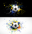 Soccer ball dash on colorful background vector