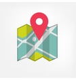 Map icon with pointer vector