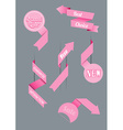 Set of origami paper stripes and arrows with place vector