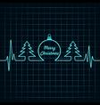 Heartbeat make christmas symbols stock vector