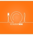 Plate fork knife design background vector