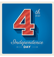 Happy independence day cards usa 4 th of july vector