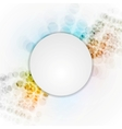 Colorful hi-tech background with blank circle vector