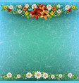 Abstract spring floral background with flowers on vector