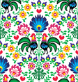 Seamless traditional floral polish pattern vector