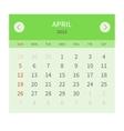 Calendar monthly april 2015 in flat design vector