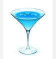 Blue cocktail vector