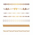 - golden borders and elements for design vector