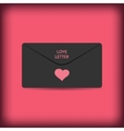 Black stylish love envelope elegant passion vector