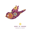 Colorful stars bird silhouette pattern frame vector