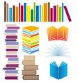 Set of book arrangements vector