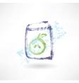 Apple juice box grunge icon vector