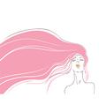 Pink hair vector