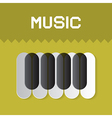 Abstract music keyboard symbol on green background vector