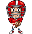 Boy football player cartoon vector