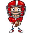 Boy football player cartoon vector