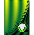 Background with a golf ball vector