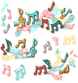 Set of bright retro music page decorations vector