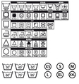 Textile care symbols set vector