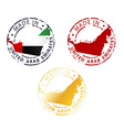 Made in united arab emirates stamp vector