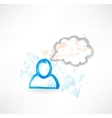 Talking person grunge icon vector