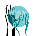 Hand and earth vector