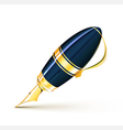 Elegant fountain pen vector