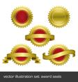 Medallions scrolls ribbons vector