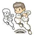Taekkyeon is a form of korean martial art vector