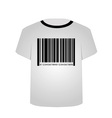 T shirt template- sale bar code vector