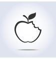 Bitten apple icon vector