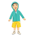 Boy wear jacket vector