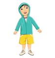 Boy wear jacket vector