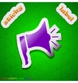 Megaphone icon sign symbol chic colored sticky vector