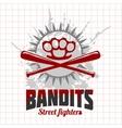 Bandits and hooligans - emblem of criminal vector