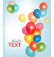 Background with colorful ballons vector