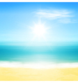 Beach and tropical sea vector